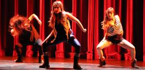 WORLD FUSION: Dancers A-Ya Hamano, Melissa Gonzalez and Nami Matsushita took first place at the ISA talent show Thursday along with teammates Chur Hyun Sung and Richard Fober.