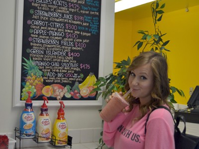 Roots & Fruits Smoothie Bar Comes to Campus