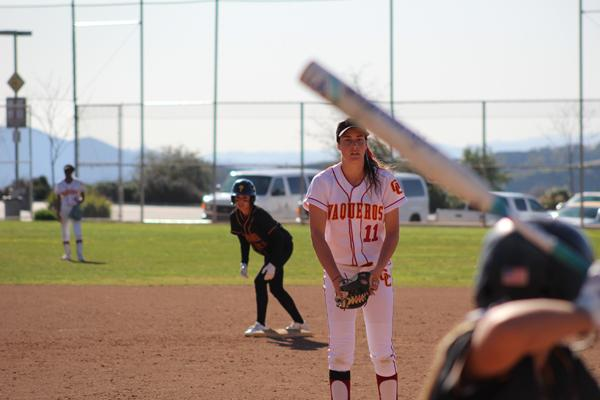 BASES LOADED:  Pitcher Jordan Lousararian winds up against Pasadena City College with the bases loaded at the Glendale Sports Complex on March 1.