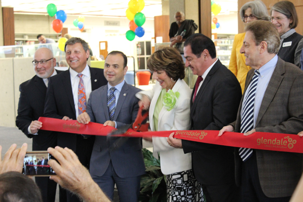 Glendale City Council members during reopening ceremony.