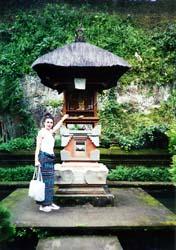 Photo courtesy of Rachel MelikianMelikian at a roadside shrine on Bali.