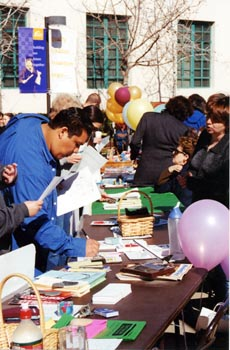 - Photo by Iain MortonRichard Rivera finds a plethora of information at the Student Services Fair.