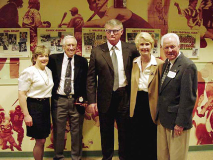 Donna Mayhew, Chuck Gibson, Carl Boldt, Cathy Ferguson, and J. Walter Smith are the inaugural inductees into the Glendale Community College Athletic Hall of Fame.