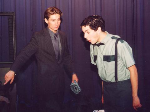 Papillon, (Juan Solis) left, and street cleaner Misho Avramov.