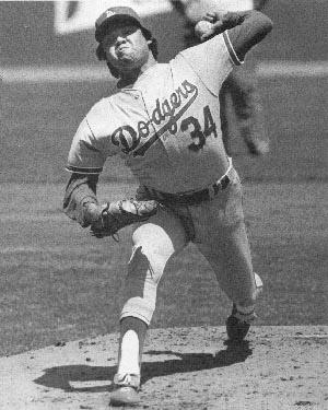 Famed pitcher Fernando Valenzuela.