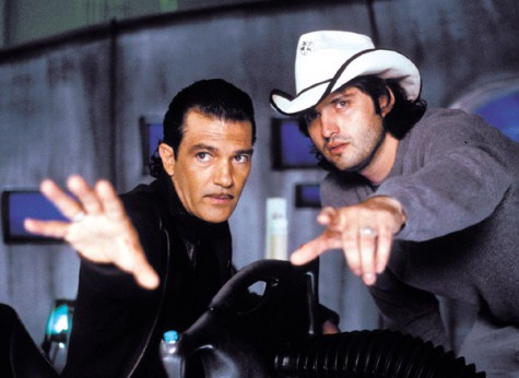 All Spy Kids 2 photos courtesy of Dimension Films Rodriguez, right, points out Antonio Banderas important role in Spy Kids 2.