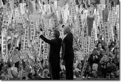 Senators John Kerry and John Edwards before Democratic convention.