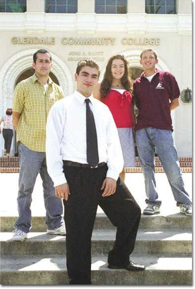 Photo by Elizabeth Linares    ASGCC members Erik Yesayan, Armen Kiramijyan, Kristine Jegalian and  Omar Limon look forward to duties in student government.