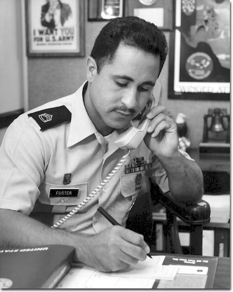 U.S. Department of Defense  Army Sgt. 1st Class Lutgardo Fuster writes down information about a possible recruit interested in joining the military. Recruiters spend hours on the telephone, trying to promote interest in the military services.