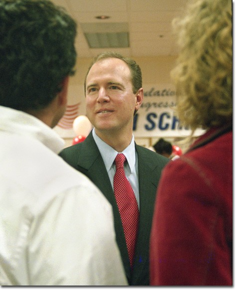 Photo by Jessica Hernandez  Rep. Adam Schiff, D-Glendale, is reelected as California's 29th district congressman.