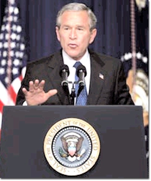 Associated Press  President Bush was re-elected to a second term in Tuesday's election.