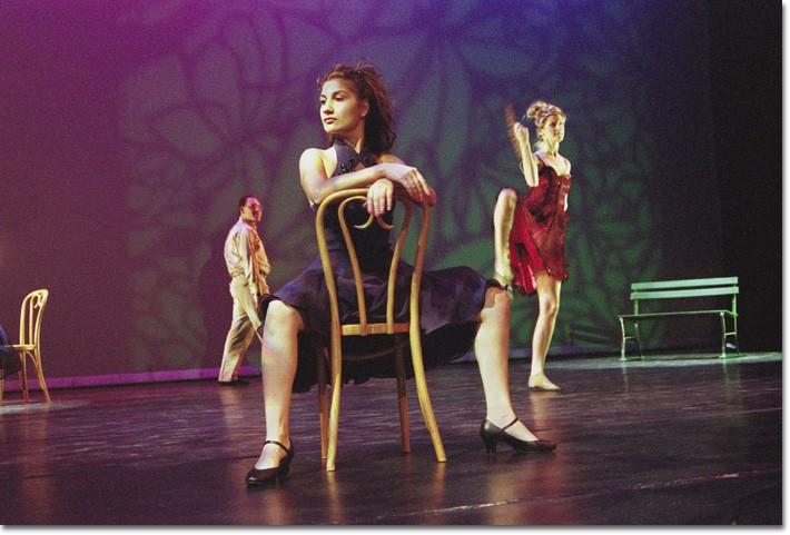 TANGO CALIFORNIA — Dancers in GCCs semi-yearly dance department production perform a modern tango at their well-received production over the weekend. A broad range of dance styles were represented in the exhuberant performances, many of which were c