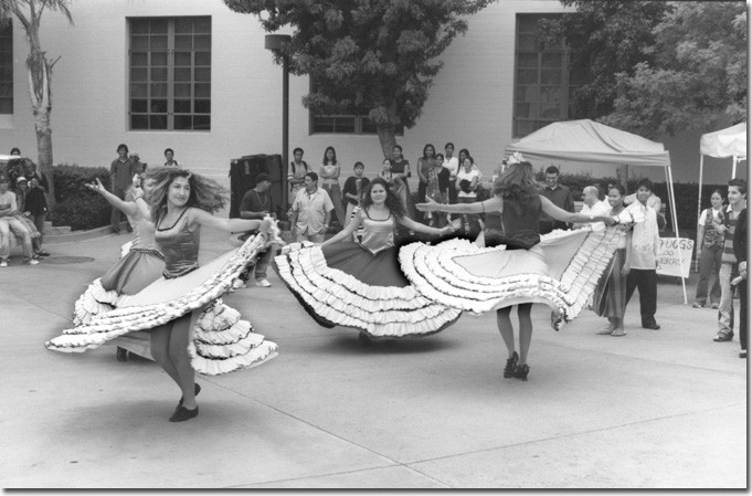 Brazilian dancers perform during International Students Week on campus in 2004. GCC has been ranked in the top 40 in international enrollment.