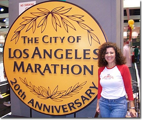 RUNNING THE MARATHON — Professor Sona Donayan is proud of her accomplishments with the L.A. marathon.