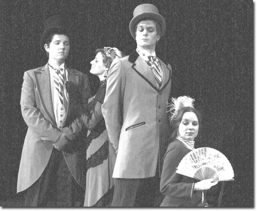 Ian Felchlin, Tisha Lee, Simon Vahlne and Elizabeth Walker star in GCC's production of  Wilde's