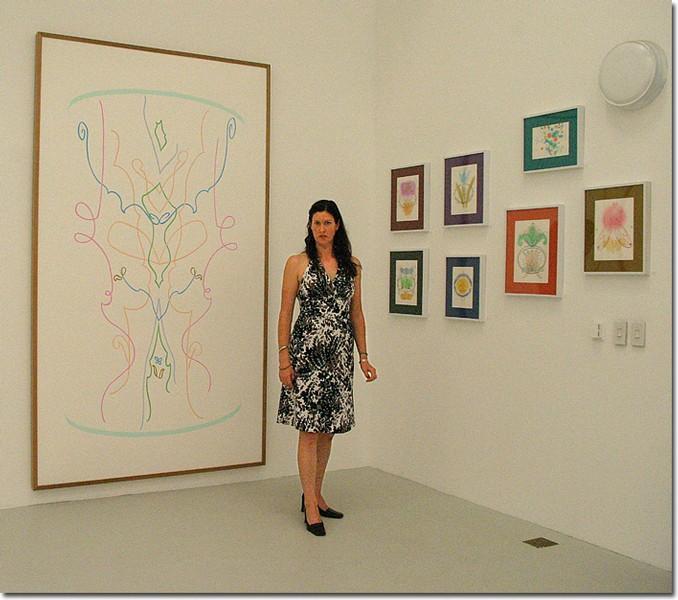 GCC ART GALLERY — Artist Alicia Beach exhibits her work in