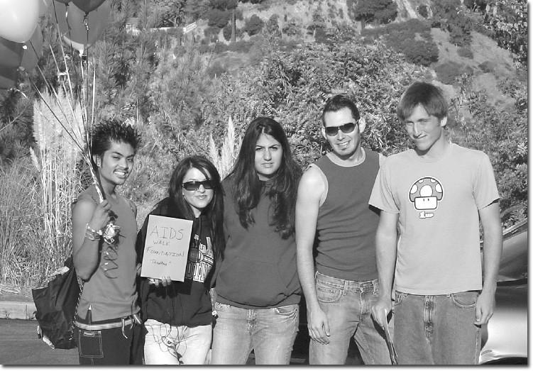 From left: Ryan Olaes, Lilit Grigoryan, Sose Panossian, Ronnie Rivera, and Aaron Hayden.