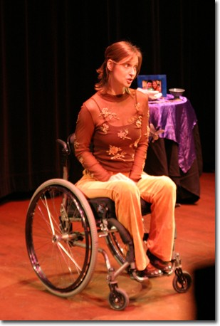 From chrysalis to wings, Lyena Strelkoff flies despite her disability.