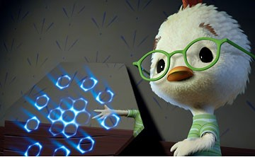 Chicken Little (voiced by Zach Braff) in Walt Disney Pictures'