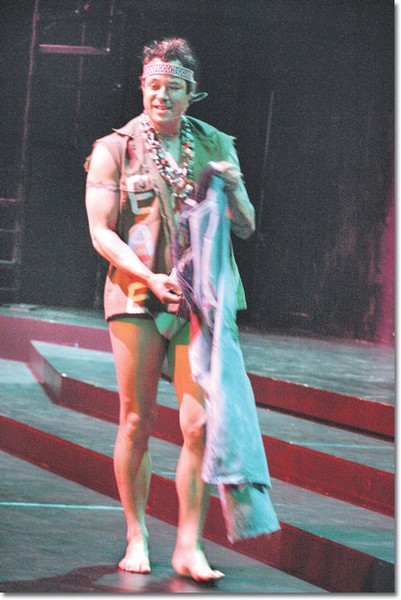 Marco Bardales, as Berger in the GCC theater arts production of Hair, which opened March 10.