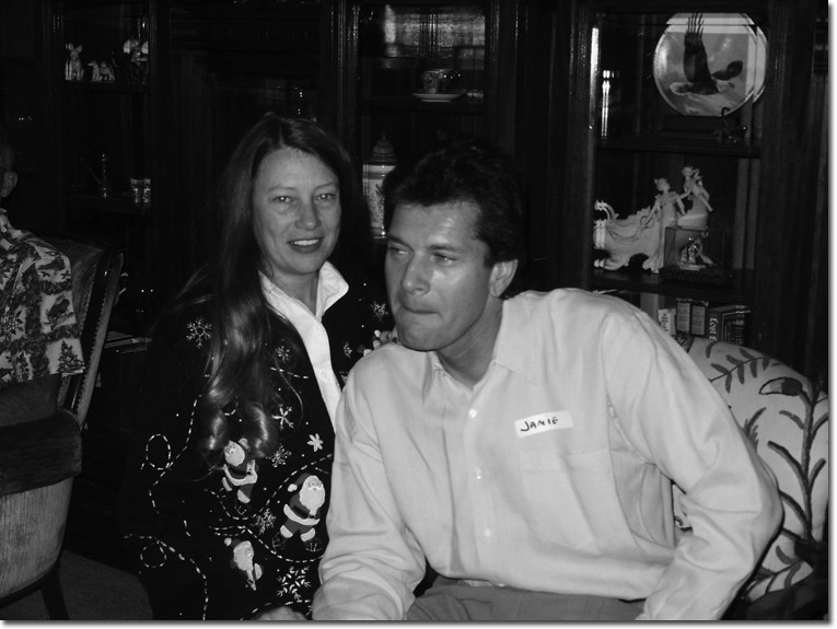 Karen Pedersen and her husband, Jamie Dean Fiffles, at the Business Division Christmas party in 2003.
