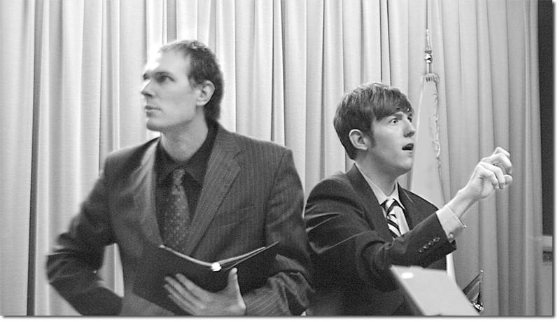 Robert Cannon and David Hale peform