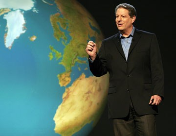 Al Gore explains the dangers of global warming in