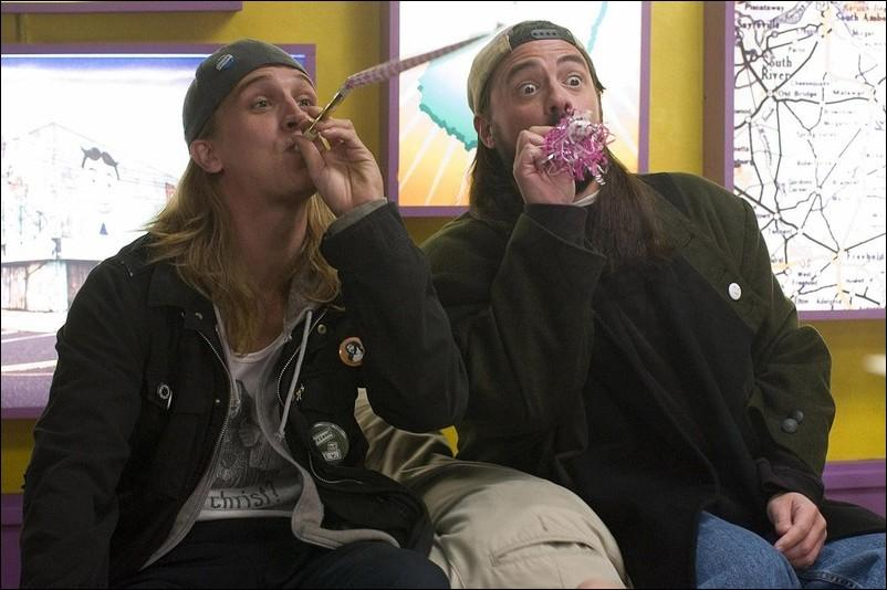 Jason Mewes and writer/director Kevin Smith reprise their roles as Jay and Silent Bob in Clerks II.