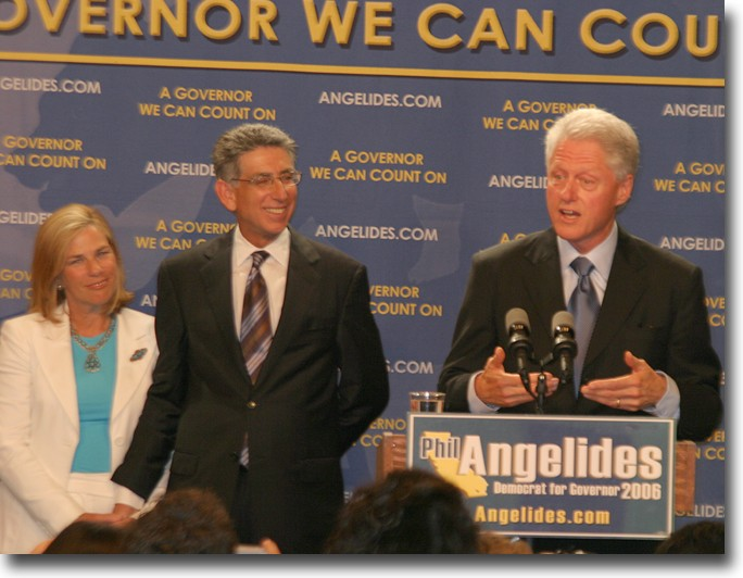 Former President Bill Clinton believes that Angelides is the person to help, not only lowering the cost of education, but also keeping the students in school so they can earn degrees and make a living once they get out.