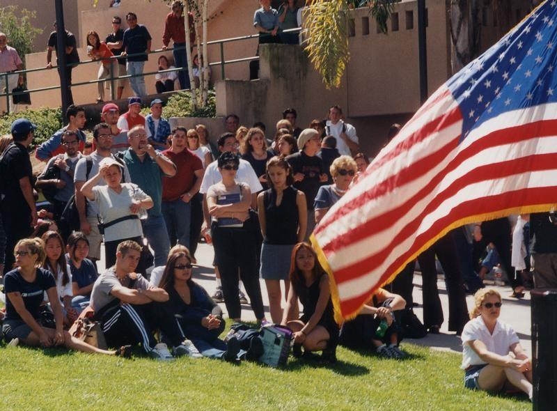 A memorial service organized by the Associated Students of Glendale Community College was attended by students, staff and people in the community. The service was held in Plaza Vaquero on Sept. 14.