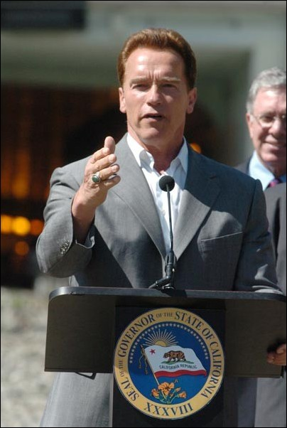 California Gov. Arnold Schwarzenegger.