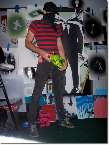 Self portrait of the enigmatic artist, Netsil.