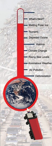 Industrial emmissions add to global warming with disasterous results.