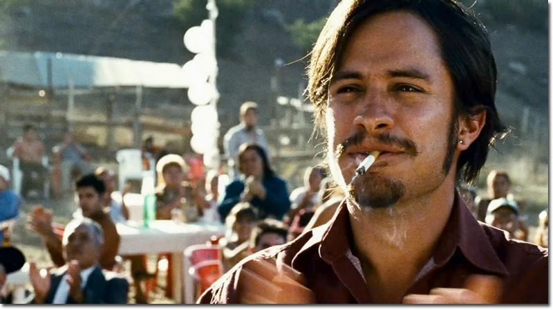 Gael Garcia Bernal plays Santiago, Amelia's loose-cannon nephew.