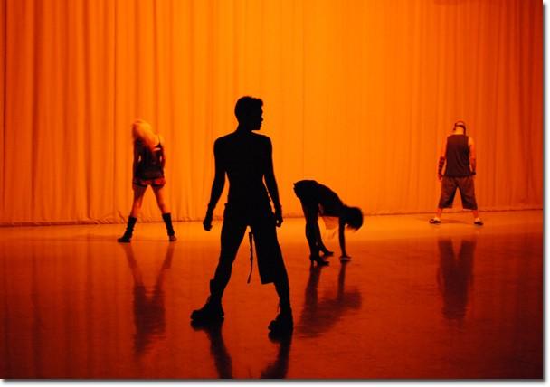 Daimici Robert, Ryan Olaes and Mio Shimahara rehearse to