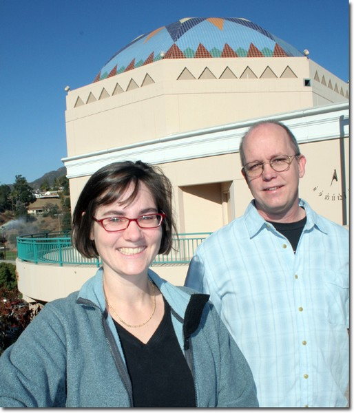 Jennifer Krestow, head of the  Astronomy department and planetarium education administrator, and Paul Buehler, planetarium technical manager and mentor for students, praise the technological features of the planetarium.