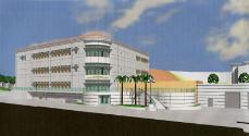 An artists' digital rendition of the new Allied Health and Sciences building.