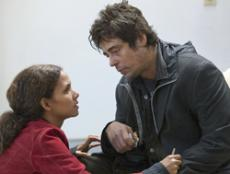 Academy Award winners Benicio Del Toro (right) and Halle Berry (left) star as Jerry Sunborne and Audry Burke, two people brought together by tragedy, in