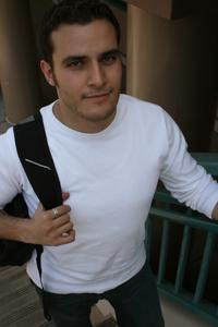Vahan Grigoryan, 25, accounting major, is one of the students who came to the aid of an assaulted instructor.