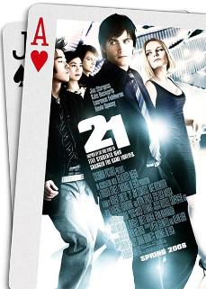 21 depicts a team of students who try to beat the odds in Las Vegas.