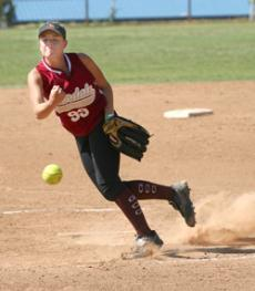 Lady Vaquero pitcher Kelly Korras displays her style against Bakersfield.