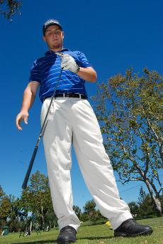 Golf team star Ryan Richardson, opposite page, has been recruited to play for California Lutheran University.