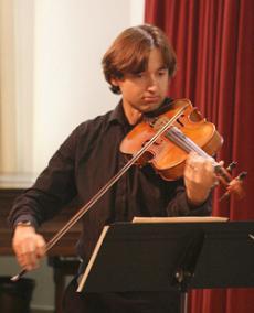 Patrick Rosalez on violin.