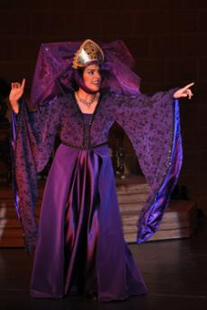 Queen Aggravaine, played by Leisna Ozno plotting on a difficult test for the princess.