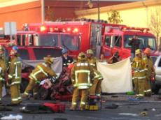 The intersection of Angeles Crest Highway and Foothill Boulevard was the scene of a tragic accident on Wednesday.