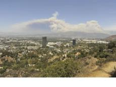 SMOKE AND ASH:  Particulates in the air from the Station Fire have caused local conditions to range from hazardous to moderate, according to the Air Quality Management District [AQMD].