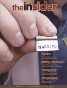The Insider's Spring 2009 cover was given an honorable mention, above, and the magazine itself won General Excellence, a distinction shared by only five magazines. Journalism 107, magazine writing, will be a course offering in the spring.