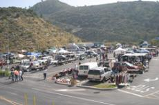 Busy, busy! The GCC Swap Meet starts on the third Sunday of every month - rain or shine.