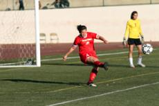 TOO LITTLE, TOO LATE: Lady Vaquero freshman Alyssa Meredith delivers a goal kick against Oxnard College.