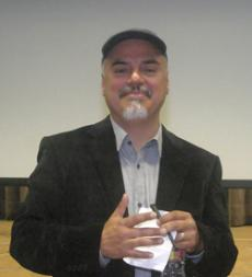 NOIR LIKE ME: Pulitzer Prize winning author and L.A.Times journalist Hector Tobar after his lecture in Krieder Hall  on Oct. 20.
